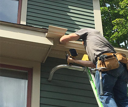 Fascia and Soffit Repair and Replacement of Normal Wooden Fascia and